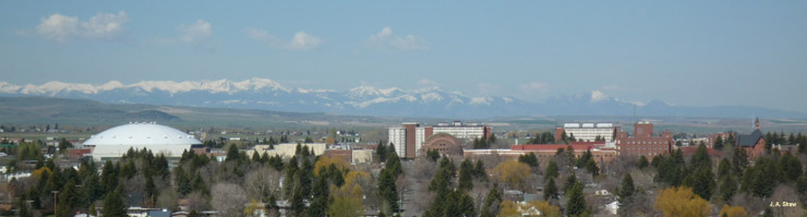 campus with mountains